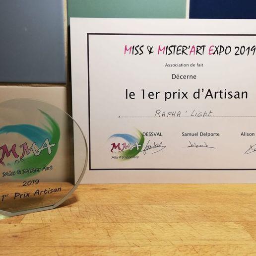 Miss et Mister'Art (9/2019) 1er prix d'artisan